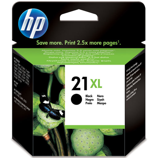HP 21XL High Yield Black Original Ink Cartridge Page Yield 475 (P/N C9351CE)