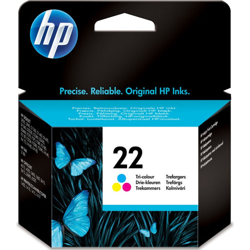 HP 22 Tri-colour Original Ink Cartridge Page Yield 165 (C9352AE)