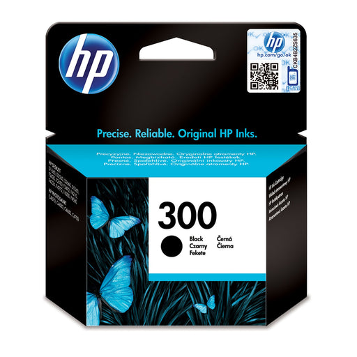HP 300 Black Original Ink Cartridge Page Yield 200 (CC640EE)