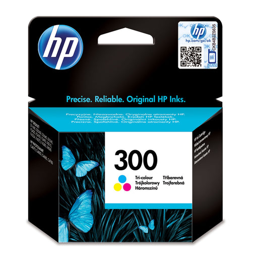 HP 300 Tri-colour Original Ink Cartridge Page Yield 165 (CC643EE)