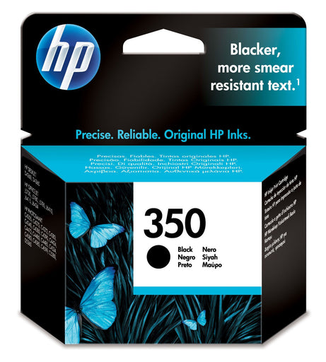 HP 350 Black Original Ink Cartridge Page Yield 200 (CB335EE)