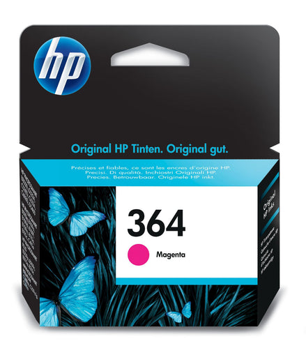 HP 364 Magenta Original Ink Cartridge Page Yield 300 (P/N CB319EE)