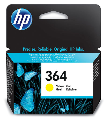 HP 364 Yellow Original Ink Cartridge Page Yield 300 (CB320EE)