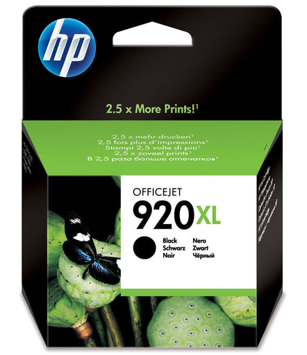 HP 920XL High Yield Black Original Ink Cartridge Page Yield 1200 (CD975AE)