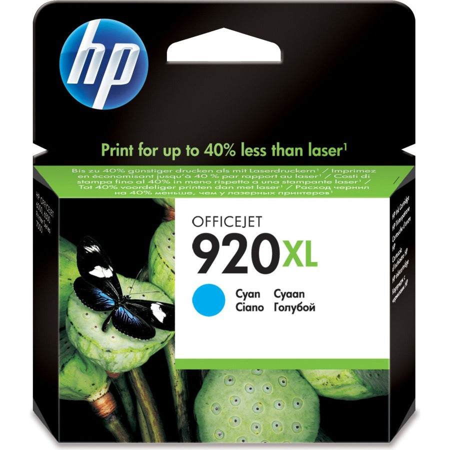 HP 920XL High Yield Cyan Original Ink Cartridge Page Yield 700 (P/N CD972AE)