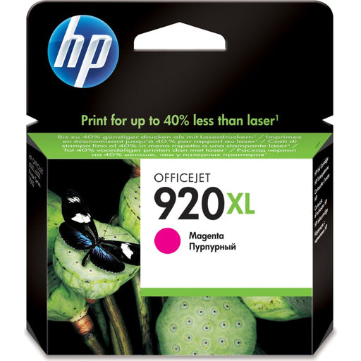 HP 920XL High Yield Magenta Original Ink Cartridge Page Yield 700 (P/N CD973AE)