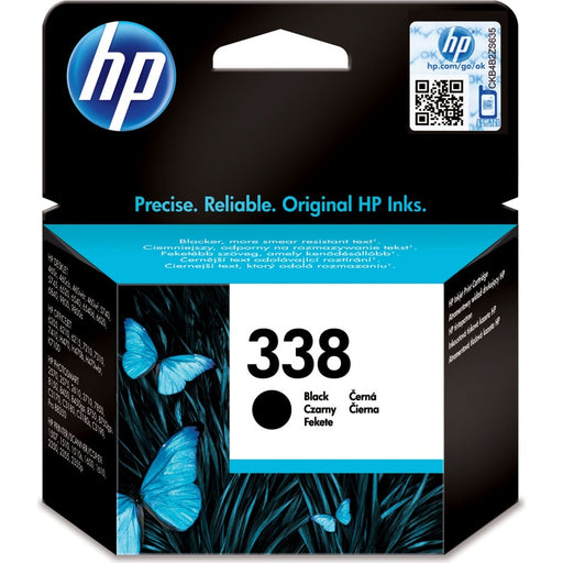 HP 338 Black Original Ink Cartridge Page Yield 480 (C8765EE)
