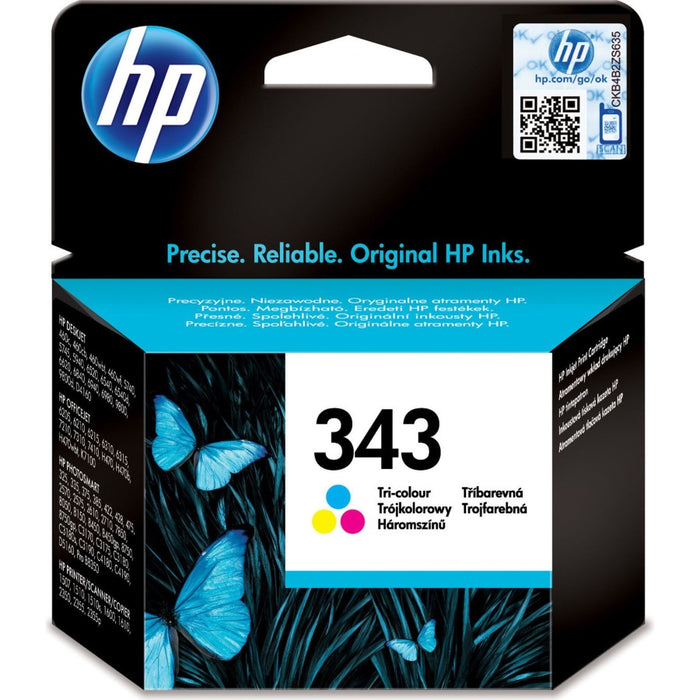 HP 343 Tri-colour Original Ink Cartridge Page Yield 330 (C8766EE)