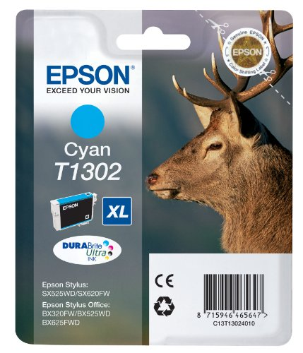 Epson Original T1302 Cyan Ink 10.1ml