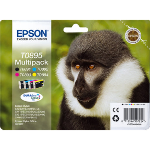 Epson Original T0895 - Multipack Black, Cyan, Magenta and Yellow