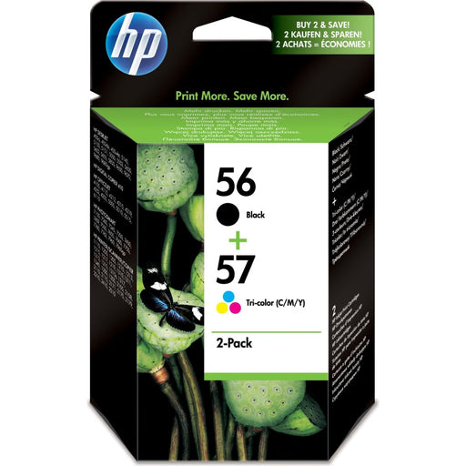 HP 56 Black/57 Tri-colour 2-pack Original Ink Cartridges Page Yield - B 520/Tri 500 (SA342AE)