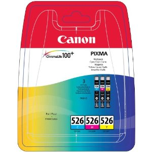 Canon CLI-526 Printer Ink Cartridges CMY