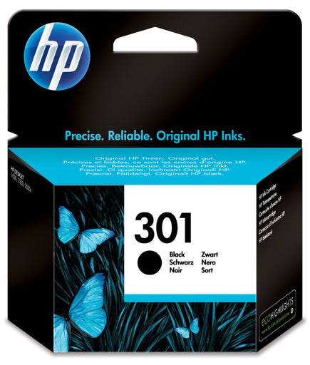 HP 301 Black Original Ink Cartridge Pages Yield 190 (P/N CH561EE)