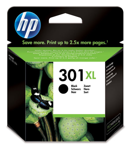 HP 301XL High Yield Black Original Ink Cartridge Page Yield 480 (CH563EE)