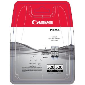 Canon Original PGI-520 Black Ink Cartridge Twin Pack