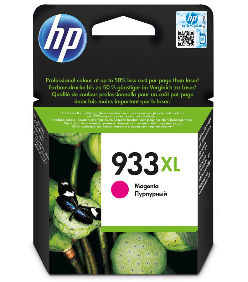 HP 933XL High Yield Magenta Original Ink Cartridge Page Yield 825 (P/N CN055AE)