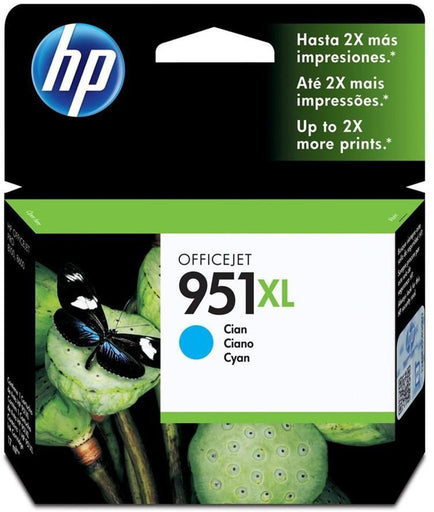 HP 951XL High Yield Cyan Original Ink Cartridge Page Yield 1500 (CN046AE)
