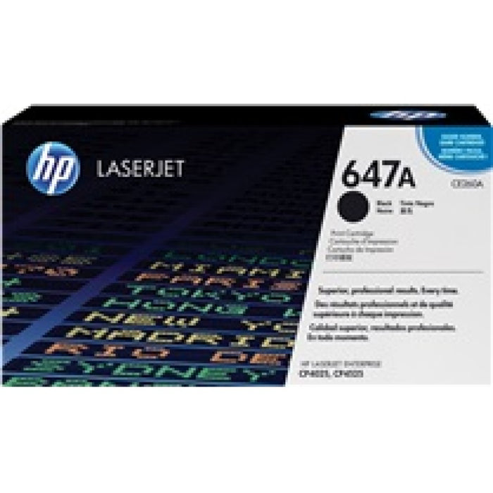 HP 647A Black Original LaserJet Toner Cartridge Page Yield 8500 (CE260A)