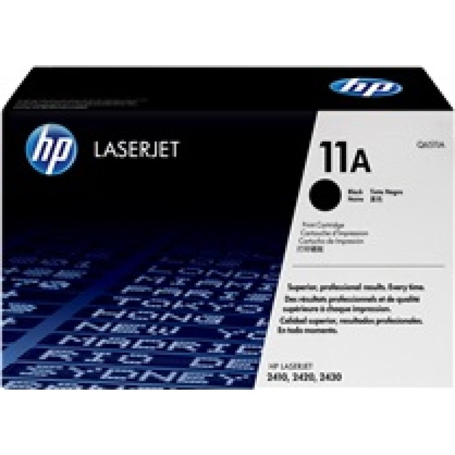 Original HP 11A Black Laserjet Toner Cartridge 6K Page Yield Q6511A
