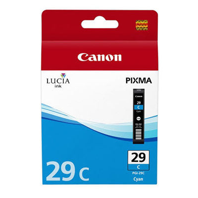 Canon PGI-29 Printer Ink Cartridge Cyan Lucia