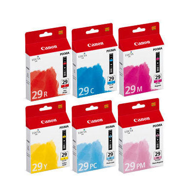 Canon Original PGI-29 6 Colour Ink Cartridge Multipack