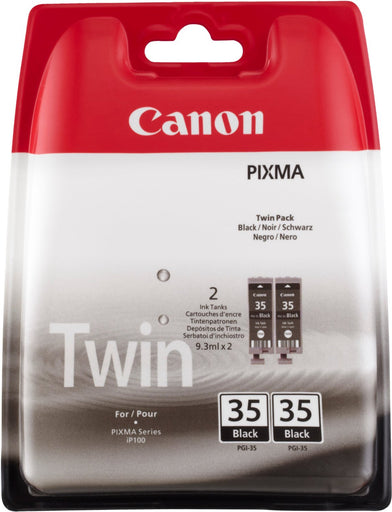 Canon PGI-35 Printer Ink Cartridges Twin