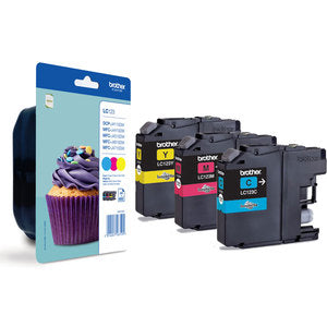 Brother Original LC123 3-Colour Multipack Inkjet Cartridges