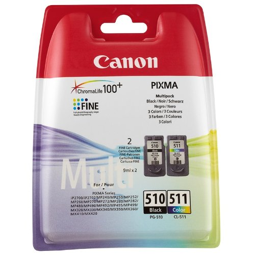 Canon PG-510 / CL-511 Ink Cartridge Combo Pack