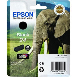 Epson Original T24 Black Claria Photo HD Ink