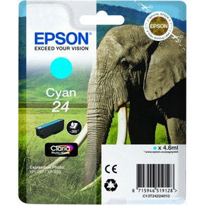 Epson Original T24 Cyan Claria Photo HD Ink
