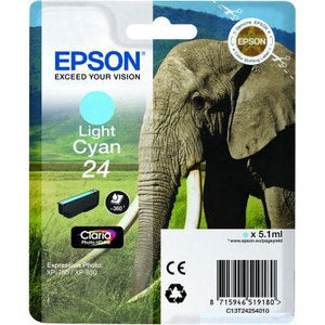 Epson Original T24 Light Cyan Claria Photo HD Ink