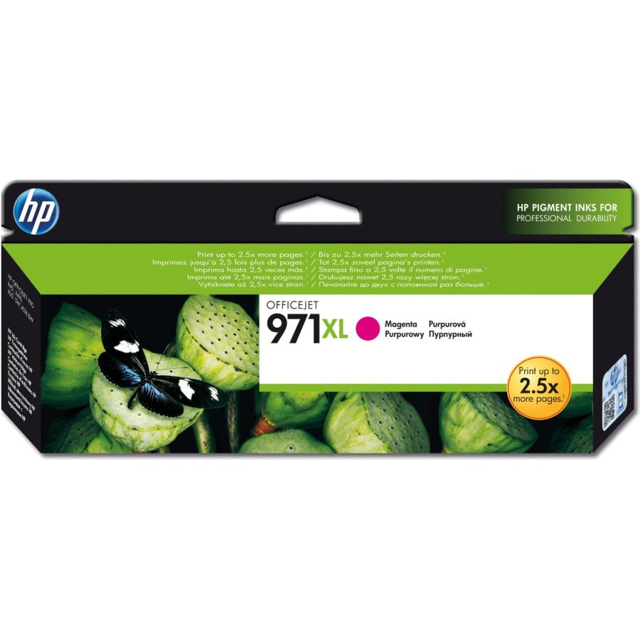 HP 971XL High Yield Magenta Original Ink Cartridge (6,600 Pages)