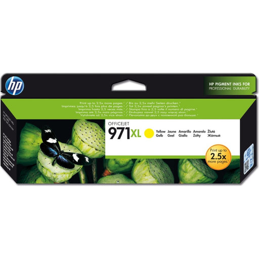 HP 971XL High Yield Yellow Original Ink Cartridge (6,600 Pages)