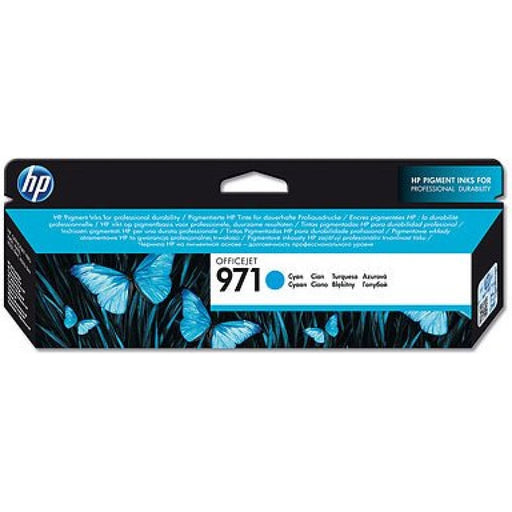 HP 971 Cyan Original Ink Cartridge (2,500 Pages)