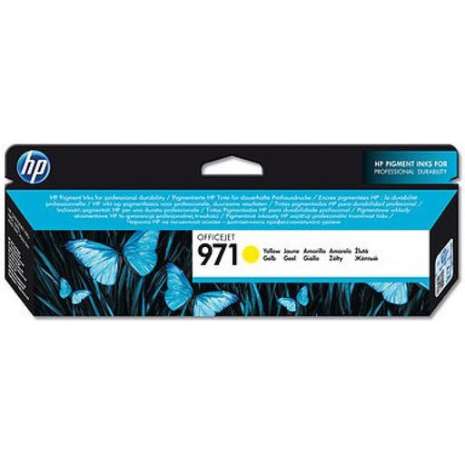 HP 971 Yellow Original Ink Cartridge (2,500 Pages)