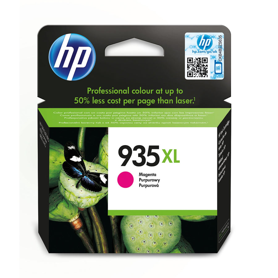 HP 935XL High Capacity Magenta Original Ink Cartridge Page Yield 825 (P/N C2P25AE)