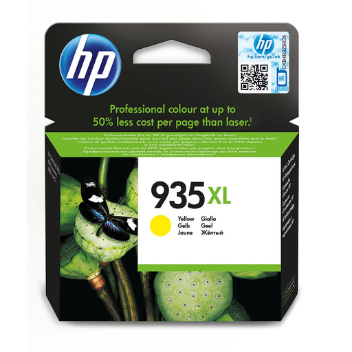 HP 935XL High Capacity Yellow Original Ink Cartridge Page Yield 825 (P/N C2P26AE)