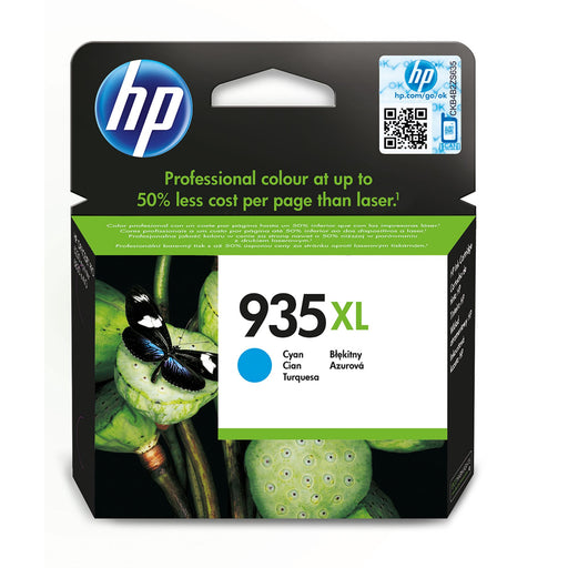 HP 935XL High Capacity Cyan Original Ink Cartridge Page Yield 825 (P/N C2P24AE)