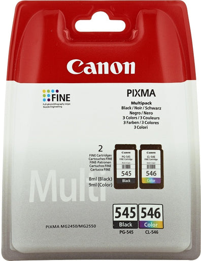 Canon PG-545 & CL-546 Ink Cartridge Combo Pack