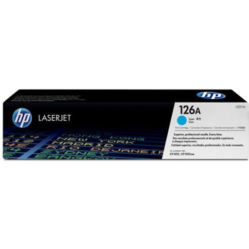 Original HP 126A Cyan LaserJet Toner Cartridge CE311A