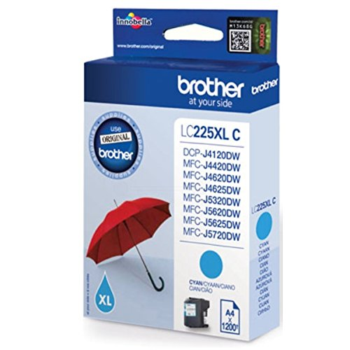 Brother Original LC225 High Capacity Cyan Ink Cartridge