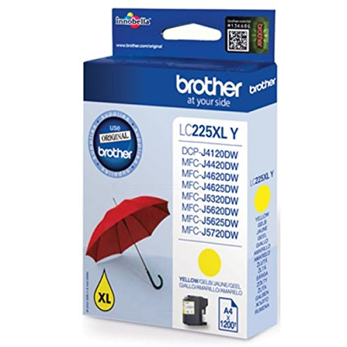 Brother Original LC225 High Capacity Yellow Ink Cartridge
