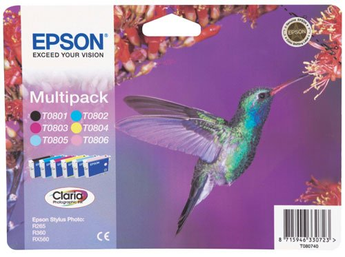 Epson Original T0807 Claria 6-colour pack - Easy Mail pack