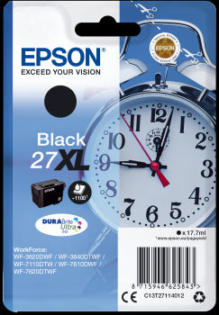 Epson Original T27XL Durabrite Ultra Black Ink