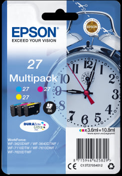 Epson Original T27 Std 3-Colour Multipack Durabrite inks