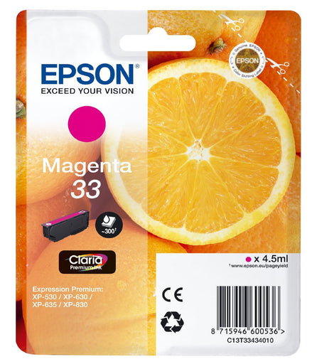 Epson Original Magenta T33 Claria Premium Ink Cartridge