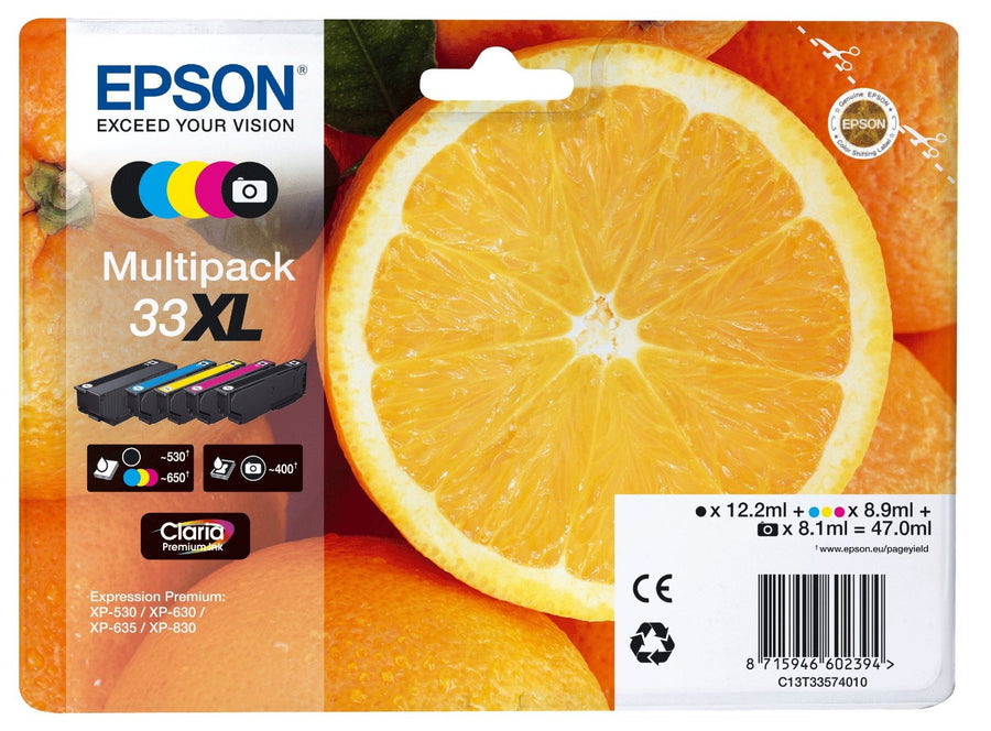 Epson Original 5-Colours T33XL Claria Premium Ink Pack