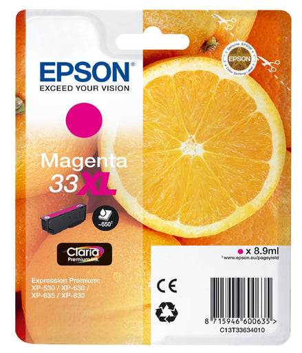 Epson Original Magenta T33 XL Claria Premium Ink Cartridge