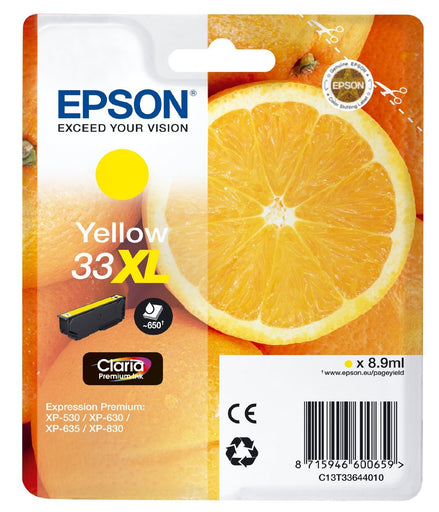 Epson Original Yellow T33XL Claria Premium Ink Cartridge
