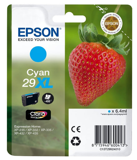 Epson Original Cyan T29 XL Claria Premium Ink Cartridge